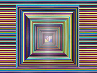 Painting - 3d Chakra Cosmic Tunnel Flowing Healing Energy Images Textures Patterns Background Designs  And Colo by Navin Joshi