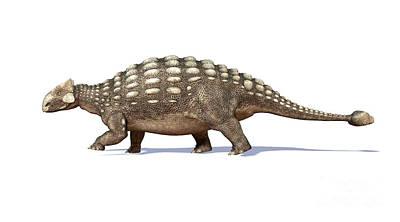 3d Rendering Of An Ankylosaurus Print by Leonello Calvetti