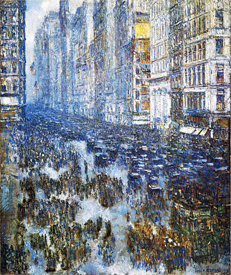 Childe Photograph - Fifth Avenue by Childe Hassam