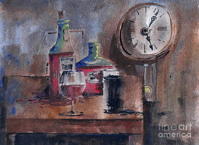 Pub Mixed Media - 5 Past 5 by Val Byrne