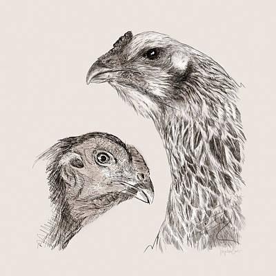 Wall Art - Digital Art - 51. Game Hens by Sigrid Van Dort