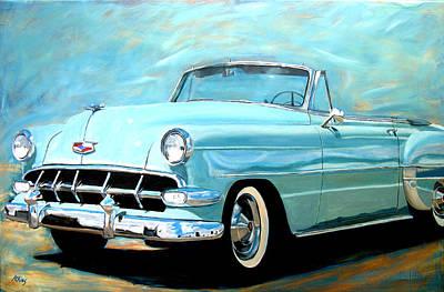 Car Jacking Painting - 54 Convertible by Jack Atkins