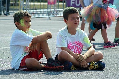 Photograph - 5k Color Run by Michael Dorn