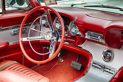 62 Thunderbird Interior Art Print by Jerry Fornarotto