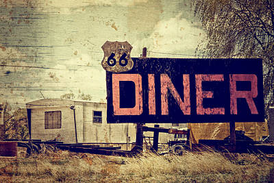 Route 66 Photograph - 66 Diner by Ellen and Udo Klinkel