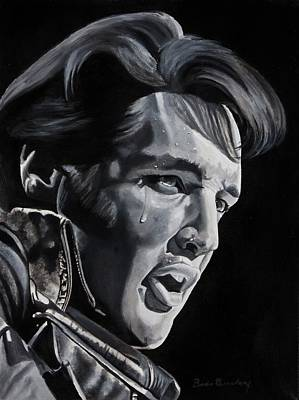 Elvis Presley Painting - '68 Comeback by Brian Broadway