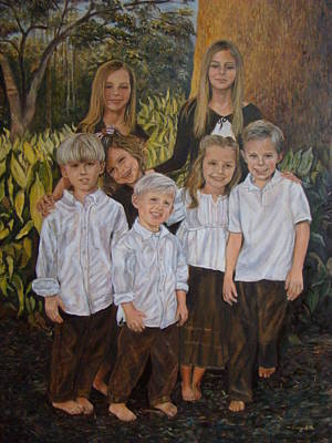 Painting - 7 Grandchildren by Terry Sita