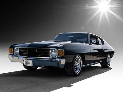 Chevy Digital Art - '72 Chevelle by Douglas Pittman
