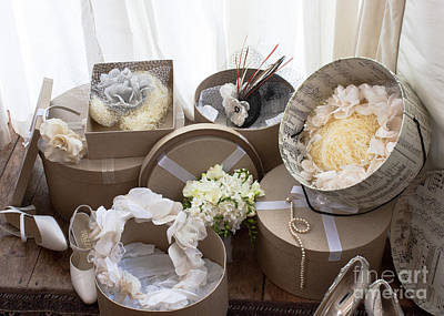 Photograph - Wedding Day Hats by Terri Waters