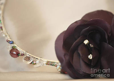 Photograph - Crystal Diamante Flower Band by Terri Waters