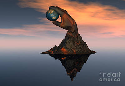 Oceania Digital Art - A 3d Conceptual Image Of The World by Mark Stevenson