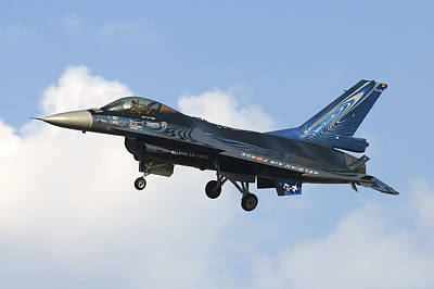 A Belgian Air Force F-16am Fighting Art Print by Daniele Faccioli