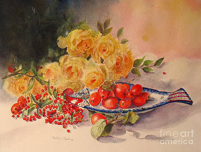 A Berry Or Two Art Print by Beatrice Cloake