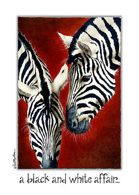Invitations Painting - A Black And White Affair... by Will Bullas