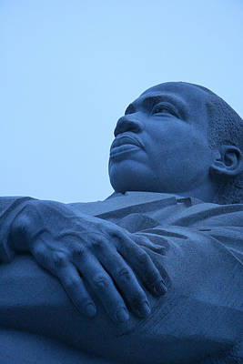 Art Print featuring the photograph A Blue Martin Luther King - 1 by Cora Wandel