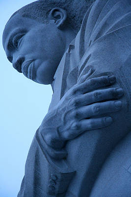 Art Print featuring the photograph A Blue Martin Luther King - 2 by Cora Wandel