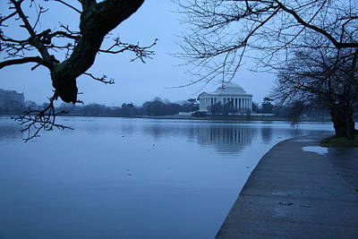 Art Print featuring the photograph A Blue Morning For Jefferson by Cora Wandel