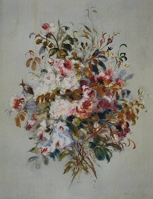 Impressionism Paintings - A Bouquet of Roses by Celestial Images