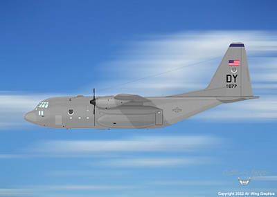 Digital Art - A C-130h Hercules by Arthur Eggers