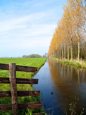 Photograph - A Canal In Holland by Cornelis Verwaal
