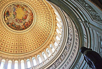 Art Print featuring the photograph A Capitol Rotunda by Cora Wandel