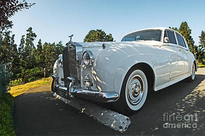 A Classic Rolls Royce Art Print by Ron Sanford