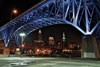 Athletes Royalty-Free and Rights-Managed Images - A Cleveland Night by Frozen in Time Fine Art Photography