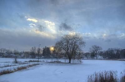 Elmira Ny Photograph - A Cold Winter's Sunset by Laurie Cybulak