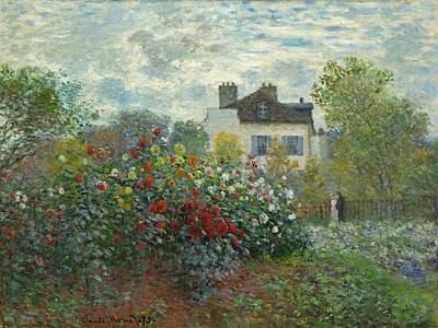 Washington Nationals Painting - A Corner Of The Garden With Dahlias by Claude Monet