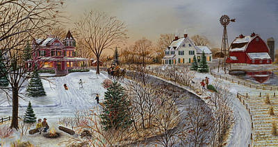 Painting - A Country Christmas by Doug Kreuger