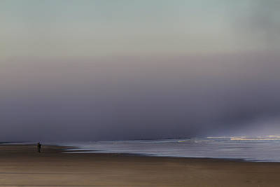Photograph - A Couple On The Beach by Robert Woodward