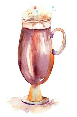 A Cup Of Coffee  Art Print by Regina Jershova