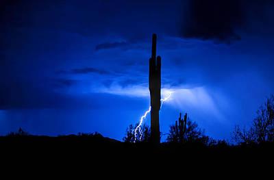 Natural Forces Photograph - A Desert Storm  by Saija  Lehtonen