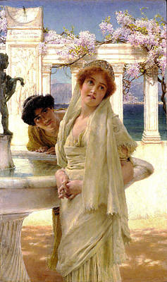 Greek Columns Digital Art - A Difference Of Opinion by Sir Lawrence Alma Tadema