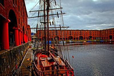 Daytime Mixed Media - A Digitally Constructed Painting Of Albert Dock Liverpool by Ken Biggs