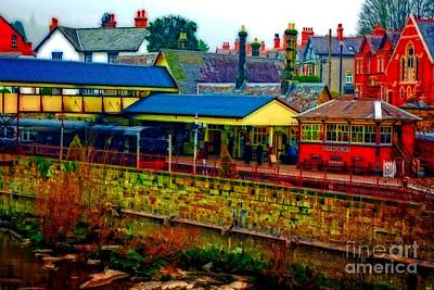 Llangollen Digital Art - A Digitally Converted Painting Of Llangollen Railway Station North Wales Uk by Ken Biggs