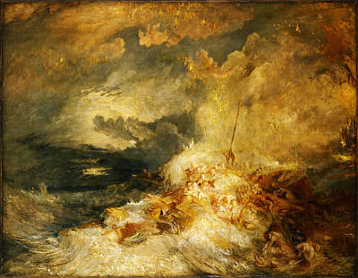 Turner Artwork Painting - A Disaster At Sea by Joseph Mallord William Turner