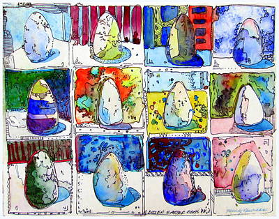 Painting - A Dozen Eggs by Mindy Newman