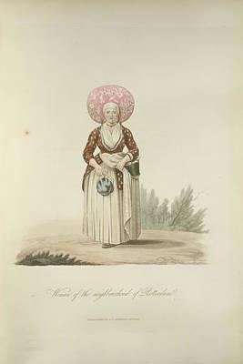 A Dutch Woman Art Print by British Library