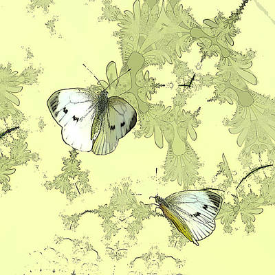 Sterling Digital Art - A Feuilles Vertes  by Sharon Lisa Clarke