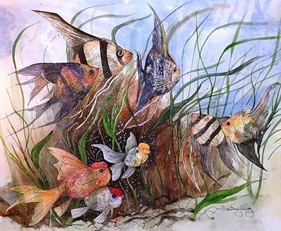 Painting - A Fishy Tale by Courtney Wilding