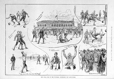 A Football Match Art Print