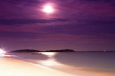 A Full Moon Sunset On Ko Samui, Thailand Print by Micah Wright