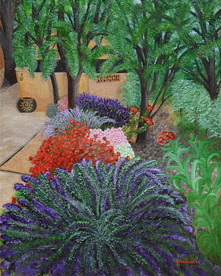 Painting - A Garden To Remember by Donna  Manaraze