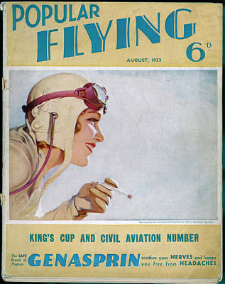 Tom Boy Drawing - A Glamorous Blond Aviatrix,  Sporting by Mary Evans Picture Library