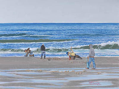 Razor Clams Wall Art - Painting - A Good Day For Clamming by Carol Thompson