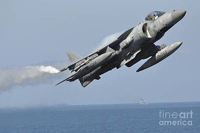 Navy Jets Photograph - A High-speed Flypast Of An Italian Navy by Giorgio Giarini