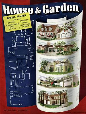 Suburban Photograph - A House And Garden Cover Of Houses by Robert Harrer