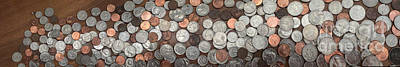 A Lot Photograph - A Large Pile Of Coins by Amy Cicconi