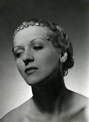 A Model Wearing Cartier Diamonds Print by Horst P. Horst
